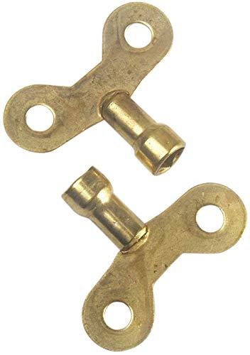 szlsl88 2 stks Messing Radiator Sleutel, Kraan Speciale Lock Vierkante Socket Bloedklep