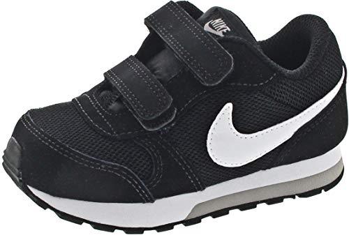 Nike MD Runner 2 (TDV), Zapatillas de Deporte Unisex niños, Negro (Black/White-Wolf Grey 001), 21 EU