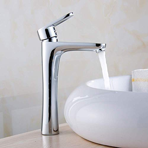 JKCKHA Limpie el Nuevo Grifo de la Cuenca por Encima del mostrador de la Cuenca Aumento de la Cuenca Caliente y fría Faucet Wash Basin Faucet Faucet