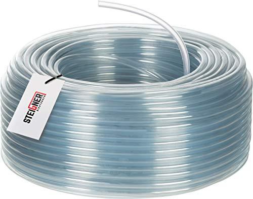 STEIGNER Benzinschlauch Wasserschlauch PVC Schlauch Transparent, Durchmesser: 6-8 mm, Länge: 20 m, SBS-06-20