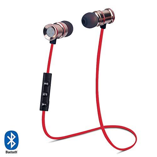 Karylax - Auriculares con Bluetooth para Sony Xperia XZ Premium/Xperia XZ3/Xperia XA/Xperia XA Ultra, color rojo