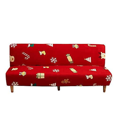 CHNSHOME Funda de sofá Cama sin Brazos 1 Plaza Funda sofá Clic-clack sin elástica Funda de sofá sin apoyabrazos con Estampado