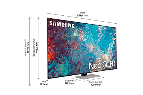 Samsung Neo QLED 4K TV QN85A 75 Zoll (GQ75QN85AATXZG), Quantum HDR 1500, Quantum-Matrix-Technologie, Ultra Viewing Angle [2021]