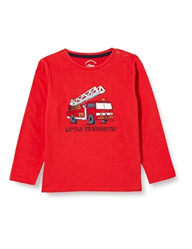 s.Oliver Junior Baby-Jungen 405.12.012.12.130.2056349 T-Shirt, Rot, 92