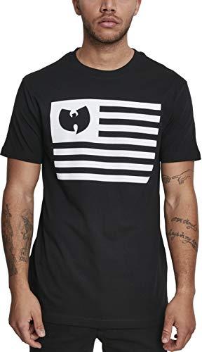 Wu Wear heren T-shirt Wu-Tang Clan Tee met print van een Amerikaanse vlag met geïntegreerd band-logo
