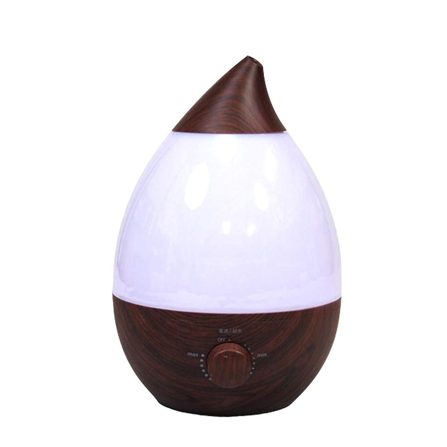 マインド個人的な花瓶加湿器 超音波式 卓上 4L アロマ加湿器 イルミネーション オフィス 乾燥 保湿 木目 おしゃれ