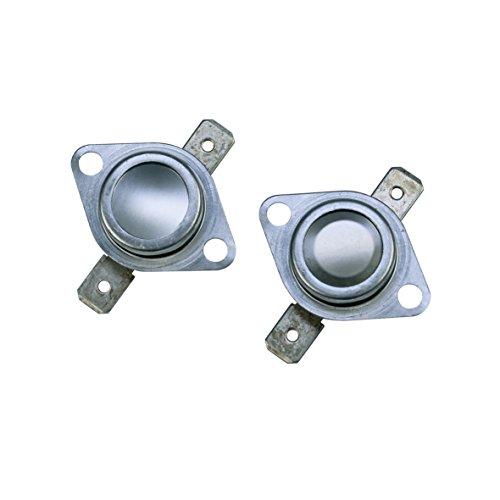 Indesit Ariston Creda C00095566 2x ORIGINAL Klixon Öffner Temperaturbegrenzer Thermostat Sicherheitsthermostat für Heizung Wäschetrockner Trockner Trocknerautomat