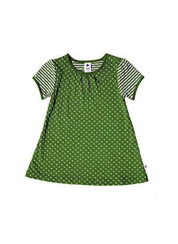 Leela Cotton Baby/Kinder Sommerkleid Bio-Baumwolle, Waldgrün, Gr. 116