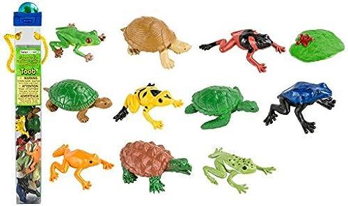 Venta en línea de descuento de fábrica Safari Toobs Frogs and Turtles Miniature Replica Set by by by Safari  mejor calidad mejor precio