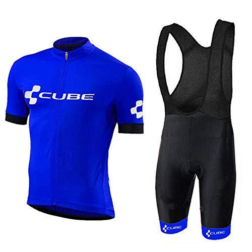 Conjunto Ropa Equipacion Traje Ciclismo Hombre para Verano, Maillot Ciclismo Hombre+Culotte Ciclismo...