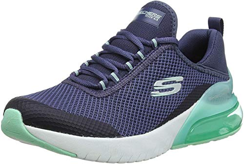 Skechers Damen Skech-air Stratus-sparkling W Sneaker, Blau (Navy/Turquoise), 38 EU