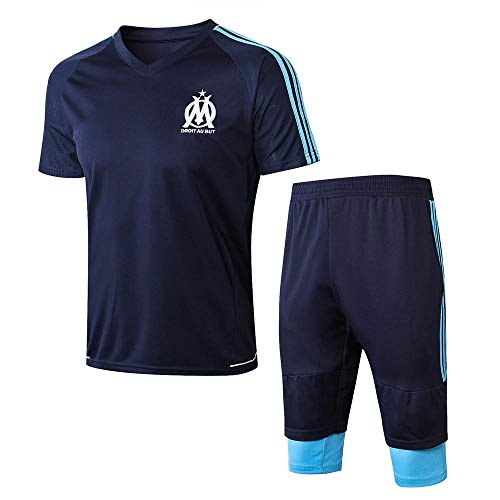 Club Marseille korte trainingspak voetbal team uniformen warming-up Jersey voor het spel