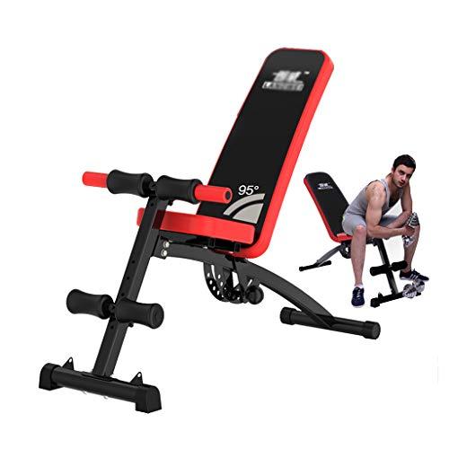 Panca con manubri Quadro Multifunzione Sit-up Pieghevole Addome Addome Bordo Multifunzione Fitness Domestico Panche (Color : Black, Size : 130 * 44 * 60cm)