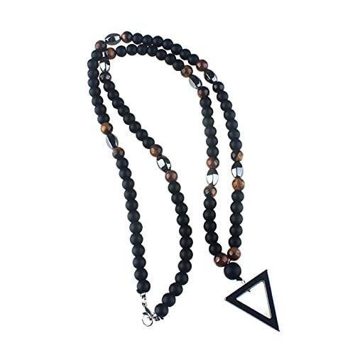 Left Girl Collana pendente Shizhu Uomini Neri del Triangolo di Ematite Collana collana uomo Pendente Bigiotteria 60Cm
