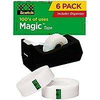 6-Pack Scotch Magic Tape with Dispenser