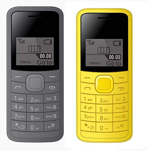 IKALL K73 144 inch 365 cm Feature Phone Combo Grey Yellow
