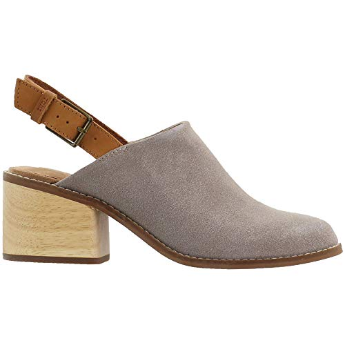 TOMS Womens Leila Round Toe Slingback Pumps Casual - Beige - Size 5 B