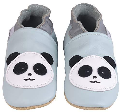 Kindsgut Krabbel-Schuhe, Kita, Baby, echtes Leder, Gr. 22/23, Panda