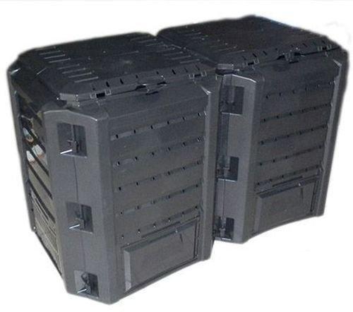 rg-vertrieb Garten Komposter 800L Schwarz Modul Thermokomposter Kompostbehälter Kunststoff