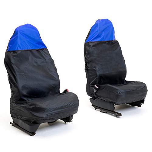 Auto Companion AUTOC-45, coprisedili anteriori universali, impermeabili, colore nero con parte superiore blu, set da 2 pezzi