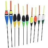 DAUERHAFT 10 Piezas Coloridas Carpas de Pesca flotadores Bobbers Ganchos, Accesorios de Aparejos flotantes de Agua Dulce, Suministros de Pesca portátiles Accesorios de Aparejos