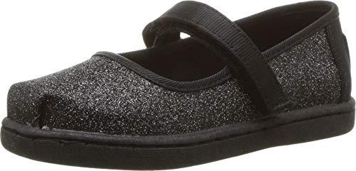 TOMS Unisex-Kinder Tiny Mary Jane Slip On Sneaker, Schwarz (Black 000), 37 EU