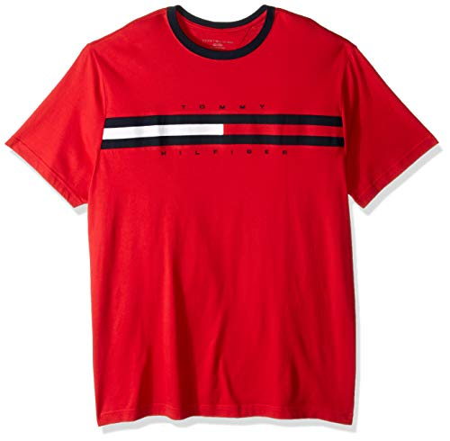 Tommy Hilfiger Herren Big and Tall Logo T-Shirt, Apple Red, XX-Large