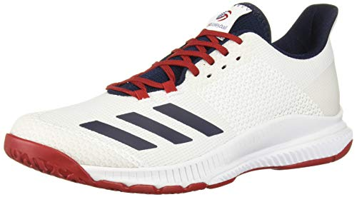 adidas Women's Crazyflight Bounce 3 Volleyball Shoe, White/Collegiate Navy/Power Red, 11.5 M US