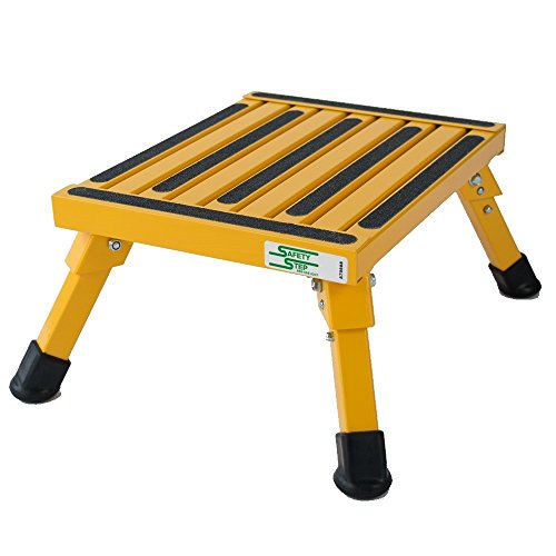 Aluminum Safety Bariatric Folding Step Stool with 1000 lb. Load...