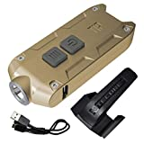 Nitecore TIP 360 Lumen USB Rechargeable Keychain Flashlight with LumenTac USB Charging Cable (Black, More colors in Options)