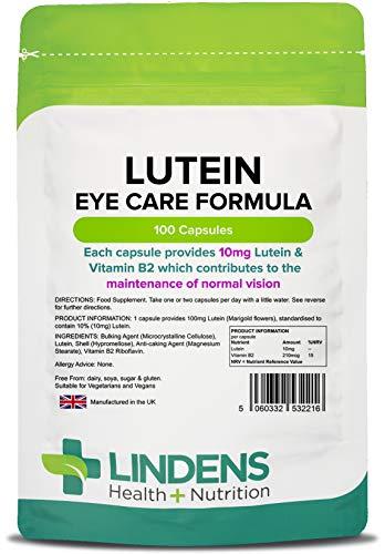 Luteína 10mg (Caléndula Extracto) cápsulas - 100 CAPS