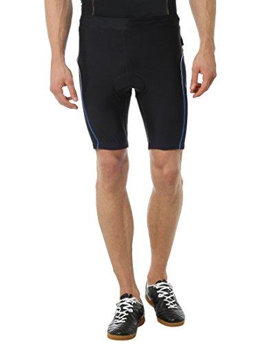 Ultrasport Herren Fahrradhose mit vorgeformter Polsterung, Schwarz/Victoria Blau, M