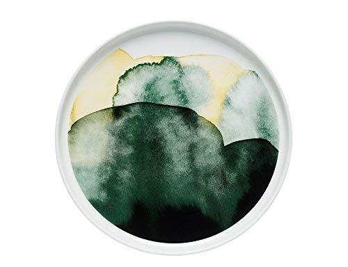 Marimekko - Sääpäiväkirja Plate/Teller - Steingut - weiß/grün/gelb - D: 20 cm