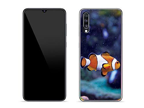 etuo Hülle für Samsung Galaxy A70 - Hülle Foto Hülle - Fisch Nemo Handyhülle Schutzhülle Etui Hülle Cover Tasche für Handy
