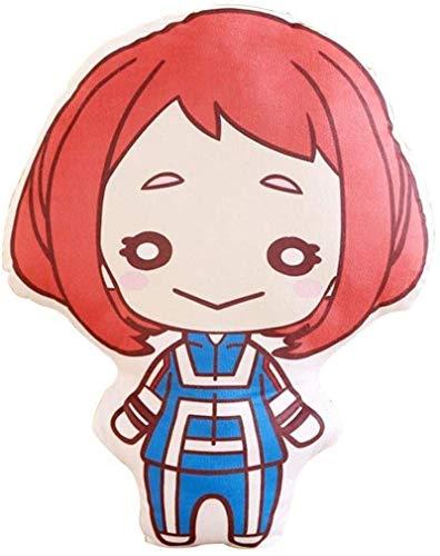 DINEGG My Hero Academia Peluche Toys Dibujos Animados Suave Almohada Relleno Muñeca Anime Fans Regalos (3.Asui Rainy Temporada) (Color: 4.Midoriya Izuku) YMMSTORY (Color : 3.ochako Uraraka)