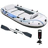 RHSMW Kayak Inflable, Canoa Inflable Plegable Rodeada De Agua Ergonómica Anti-Caída, Bote De Goma Seguro Y Cómodo Se Puede Utilizar para La Pesca