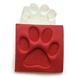 dog foot print soap stamp
