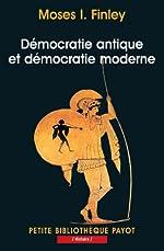 Démocratie antique et démocratie moderne de Finley