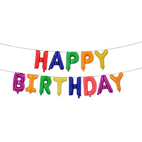 Hahuha Party Dekor, große Alles Gute zum Geburtstag/Party selbst aufblasenden Ballon Banner Bunting Party Dekor Home Decor