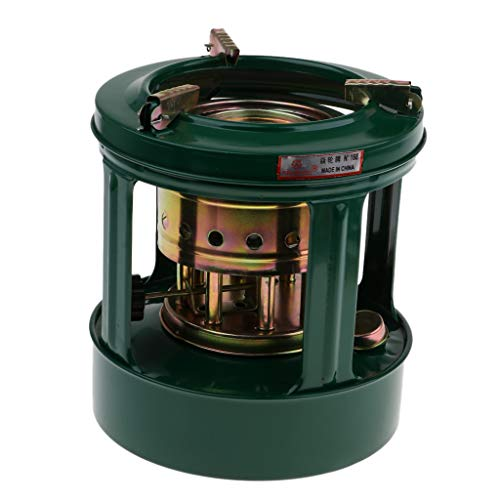 Tongina Práctico calentador portátil de 8 mechas de queroseno quemador de camping, estufa de metal duradero, 1,5 L, 17 cm de diámetro