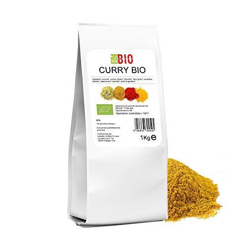 Curry polvere Bio 1 Kg - Condimento Cucina Speziata Carni Pesce Verdure Riso - LaborBio
