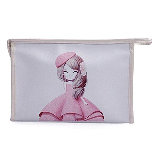 Waterproof Cosmetic sac ?main Maquillage Pochettes Maquillage Sacs, Blanc