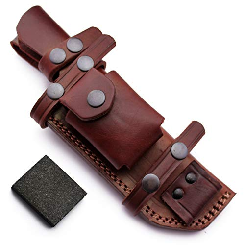 GCS Custom Handcrafted Bushcraft Dual-Carry Options Tracker Knife Blade Right Hand Cross Draw and Left Hand Scout Carry Sheath GCS 206