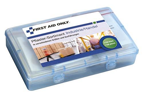 First Aid Only Pflaster-Sortiment Industrie/Handel, verschiedene Größen und Ausführungen, 100 Stück, P-10023