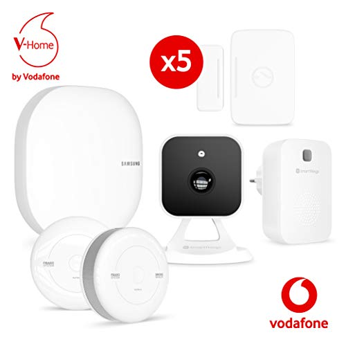 Vodafone V-Home Safety Starter Kit (XL), SmartThings-Hub (Connect Home Pro AC2600), Kamera, 2x...