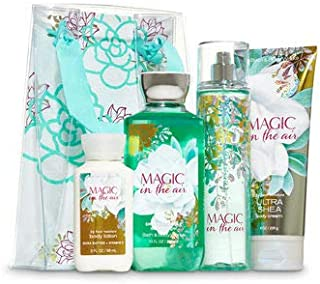 Bath and Body Work MAGIC IN THE AIR Flower Power Gift Set - Body Cream - Fine Fragrance Mist - Shower Gel & a travel-sized Super Smooth Body Lotion