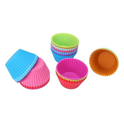 FantasyDay Premium 6 Pack Silicone Cupcake Muffin Cups Liners Molds for Your Special Desserts, Muffin, Panna Cotta, Pudding, Jello Shot and More #1