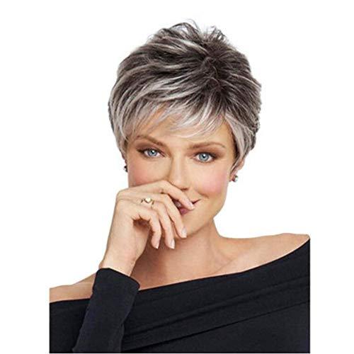 comprar pelucas pelo corto color plata online