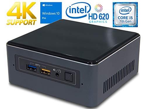 Intel NUC NUC7i5BNH Mini PC, Intel Core i5-7260U 2.2GHz, 8GB DDR4, 250GB NVMe SSD, Windows 10 Pro, WiFi, BT 4.2, HDMI, Thunderbolt 3, 4k Support, Dual Monitor Capable