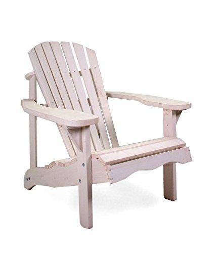 osoltus Canadian Deck Chair Adirondack Stuhl Jumbo Pinienholz weiß